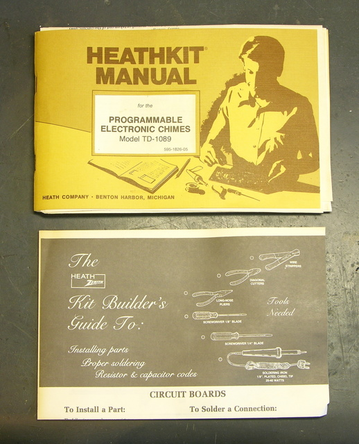HeathKit TD-1089 programmable wind chimes assembly guide