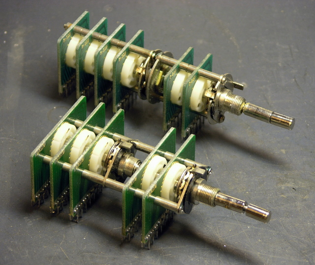 Rotary multi-position switches