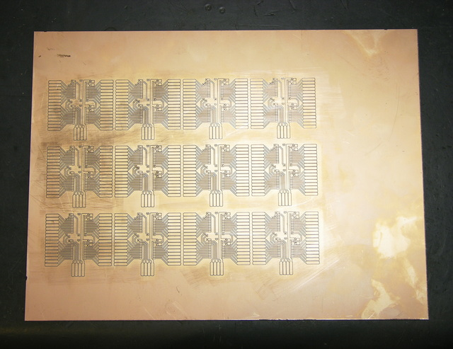 Copper PCB with A6276 LED control boards milled