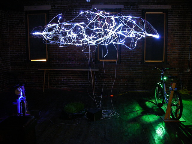 Lisa Rundstrom's Organic Energy Cloud exhibit