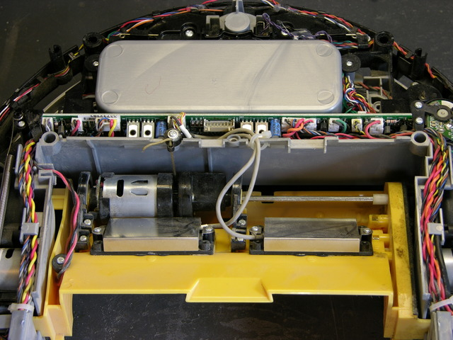 Roomba Scheduler interior, dustbin side