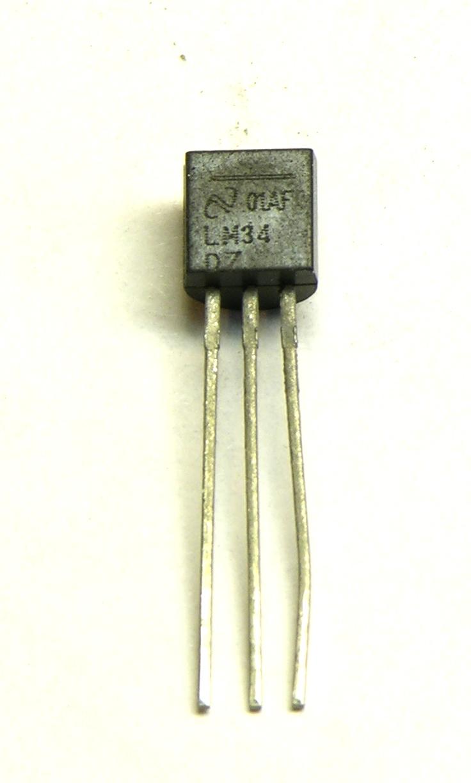 Lm34dz Fahrenheit Temperature Sensor Keiths Electronics Blog Lm75 Schematic