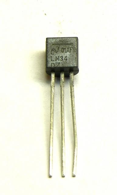 LM34DZ Fahrenheit temperature sensor