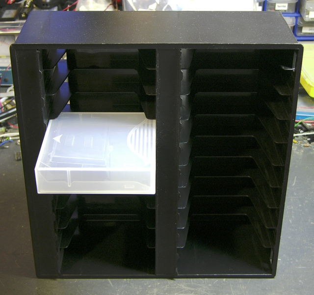 Data tape case doesn't fit into tape storage rack