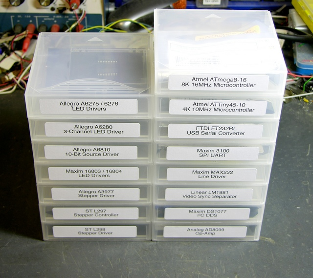 Stacked tape cases with ICs