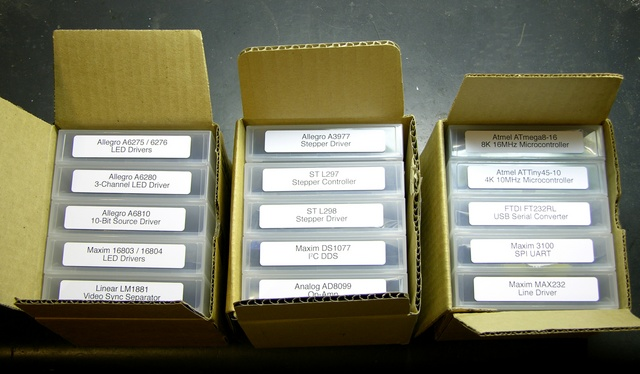 Boxed tape cases with ICs