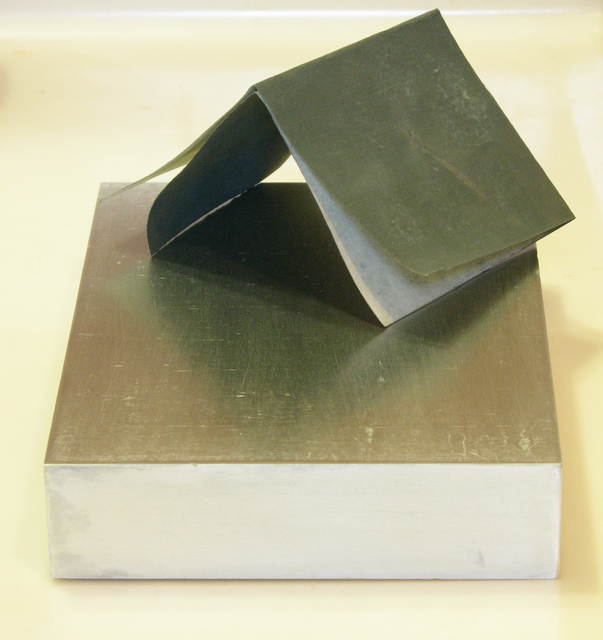Aluminum block, face and end sanded with 660 grit