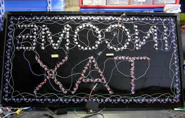 Interior wiring of LED sign