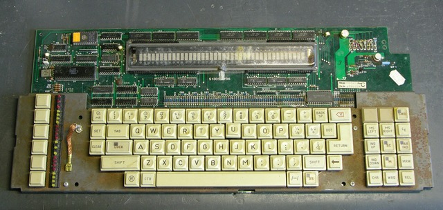 Vintage computer keyboard assembly
