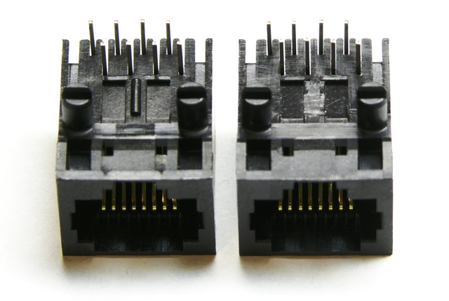 RepRap opto endstop RJ-45 jack modification
