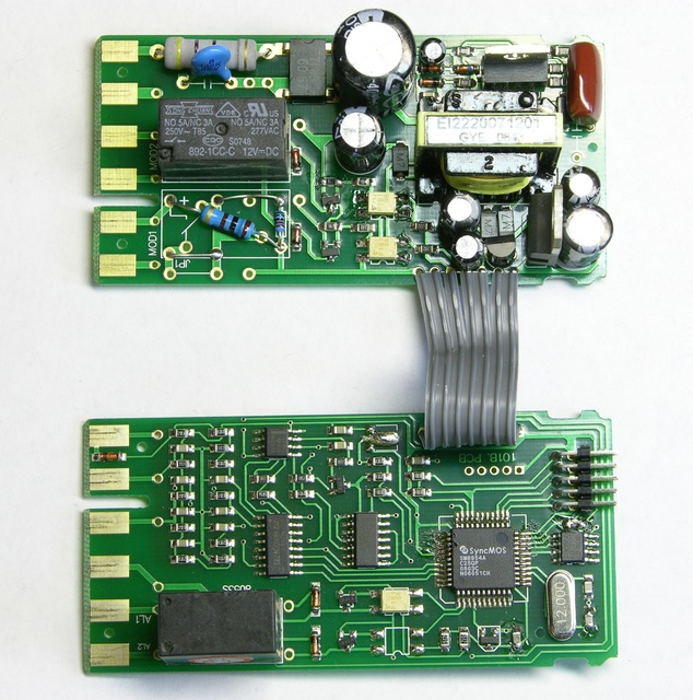 PID controller PC boards, component side