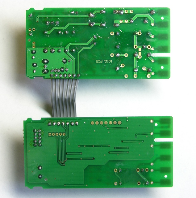 PID controller PC boards, solder side