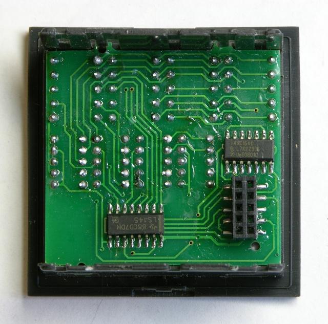 PID controller front panel, solder side