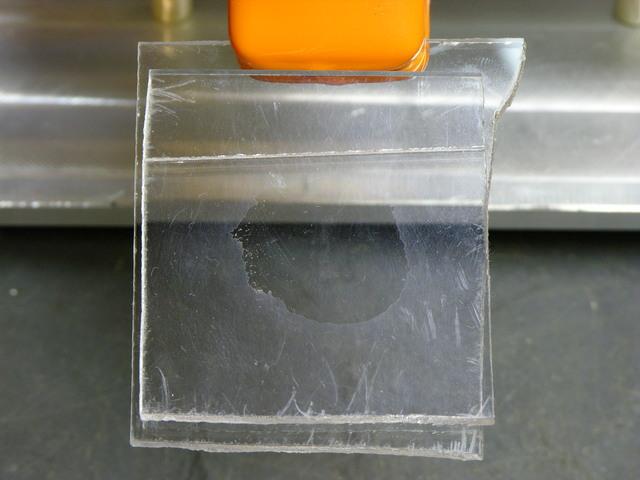 Plexiglas and superglue test patch