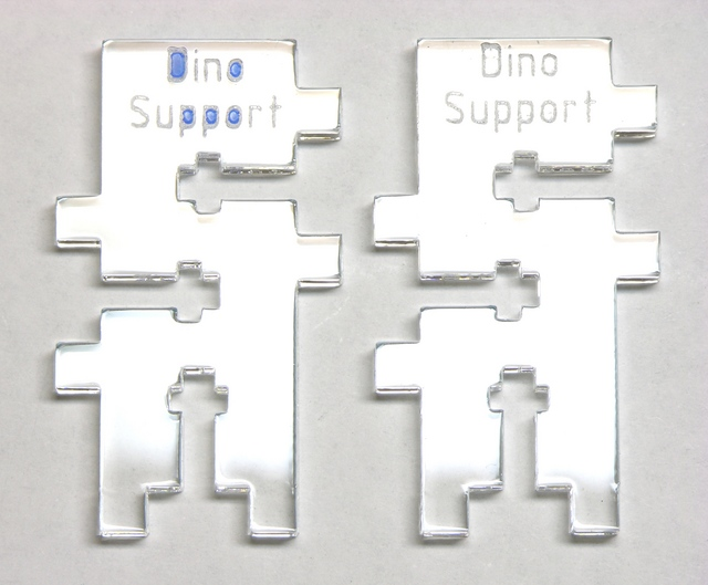 MakerBot CupCake extruder dino supports