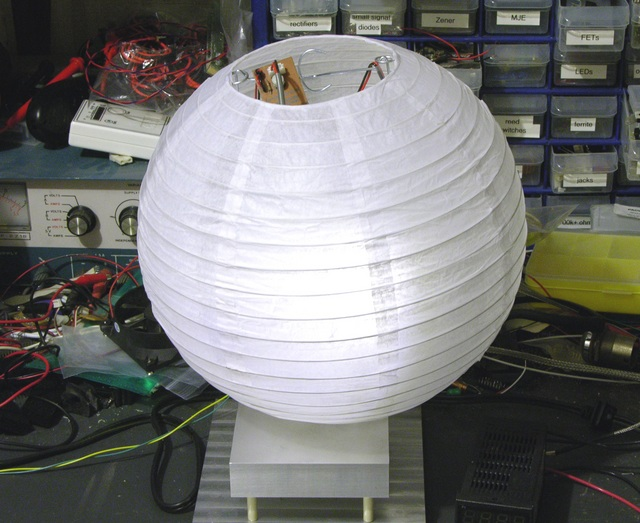 Paper lantern with LED lighting