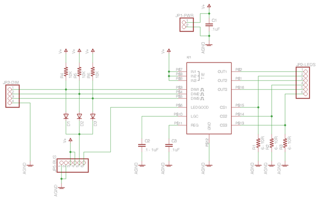 MAX16823 LED driver board schematic