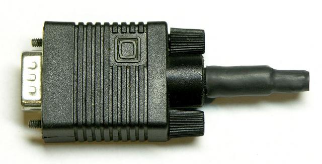 VGA dongle, heatshrunk