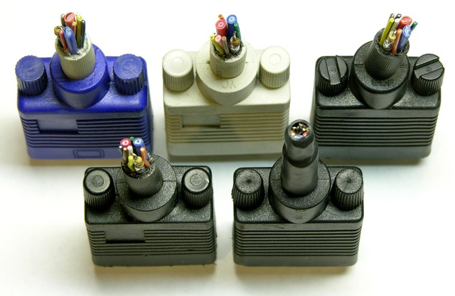 VGA dongles, end view