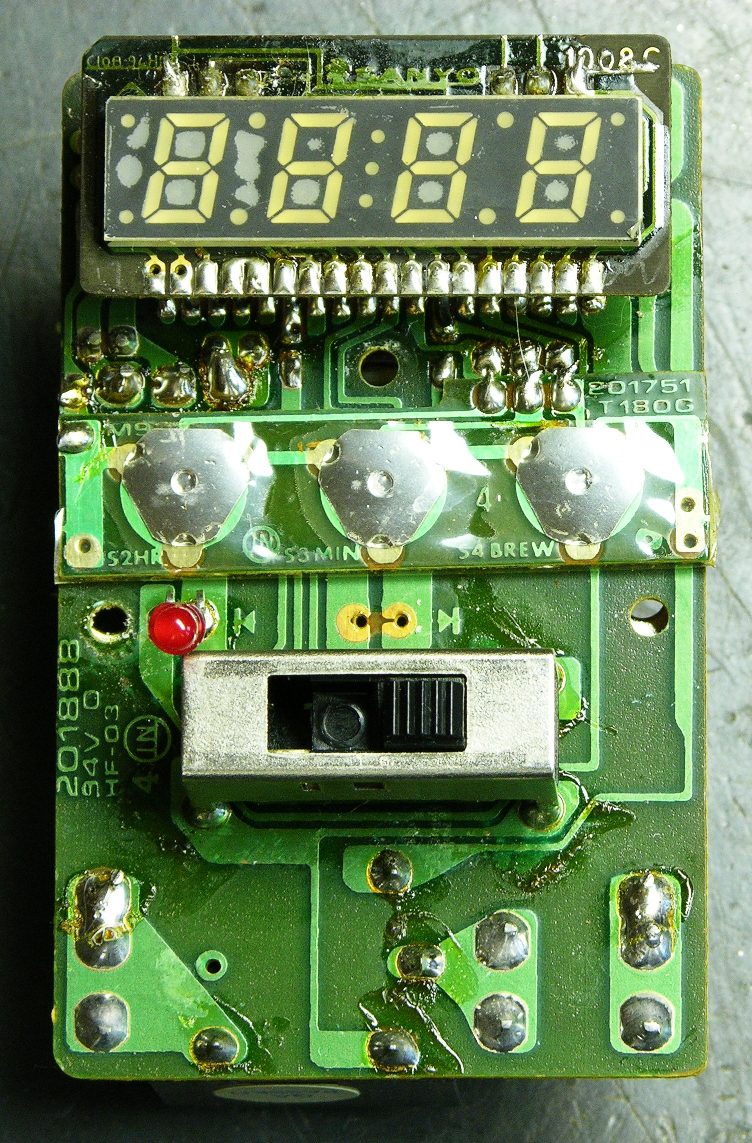 Repairing Mr Coffee Keiths Electronics Blog Electronic Brewery Wiring Diagram Pc Board Top