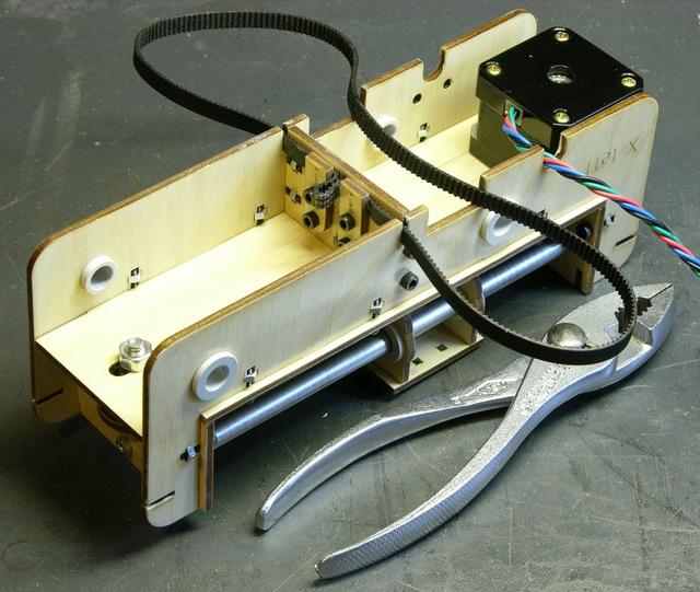 MakerBot CupCake X stage, underside