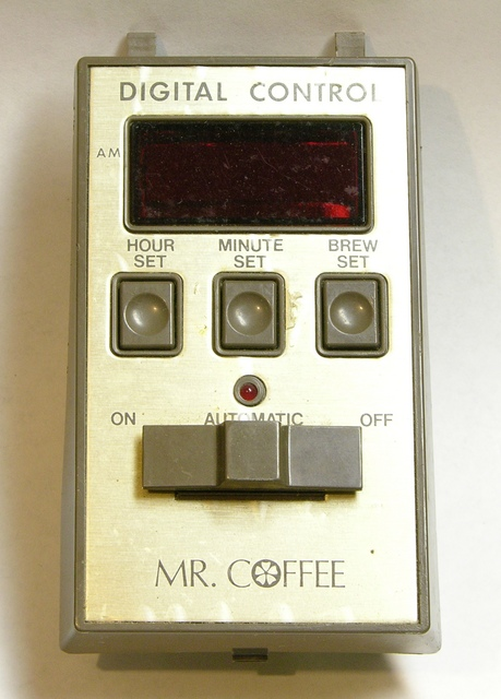 1990s Mr. Coffee control panel, front