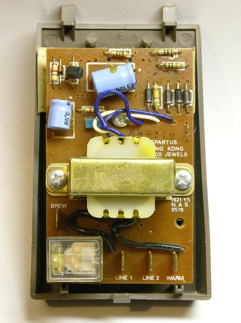 1990s Mr. Coffee control panel, back
