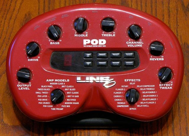 Line6 POD guitar amp modeler