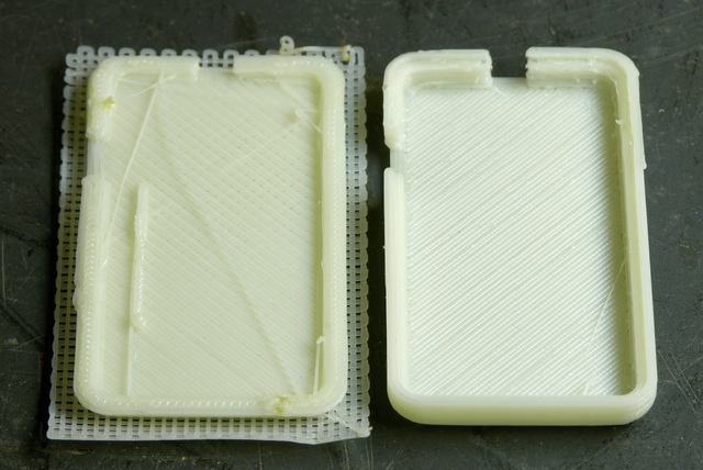 Two MakerBot CupCake prints with too low an infill density