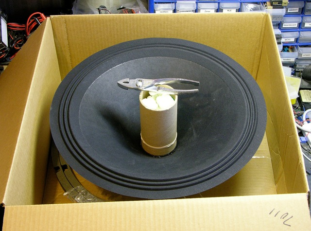 Speaker reconing kit in box