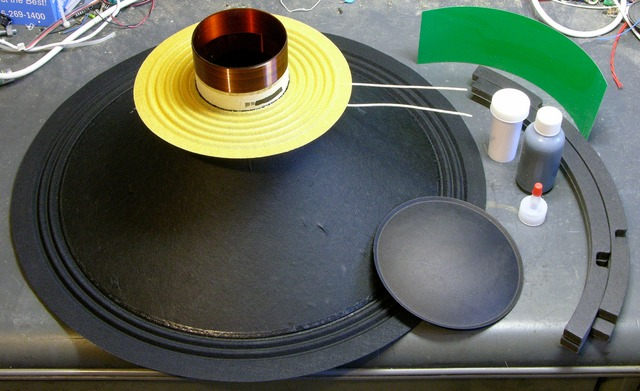 Speaker reconing kit parts