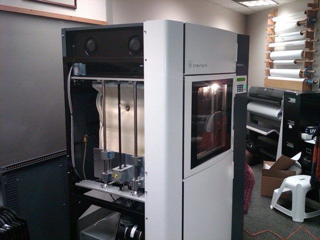 Stratasys ABS rapid-prototyping machine, front left view
