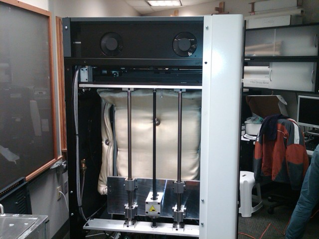 Stratasys ABS rapid-prototyping machine, left side open