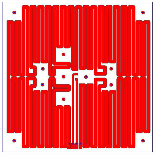 PCB heater board layout