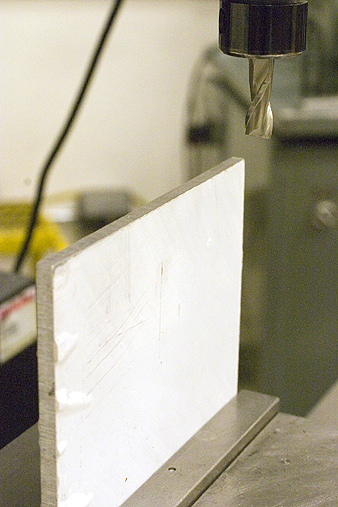 Milling first square edge on aluminum plate