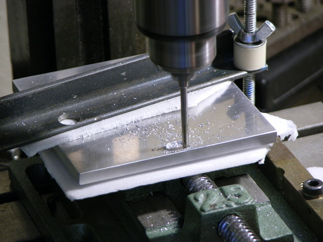 Milling recess in aluminum