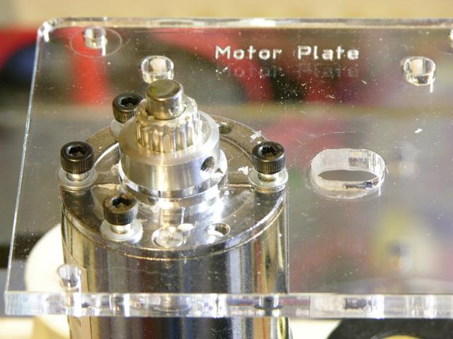Timing pulley on MakerBot CupCake Plastruder motor shaft