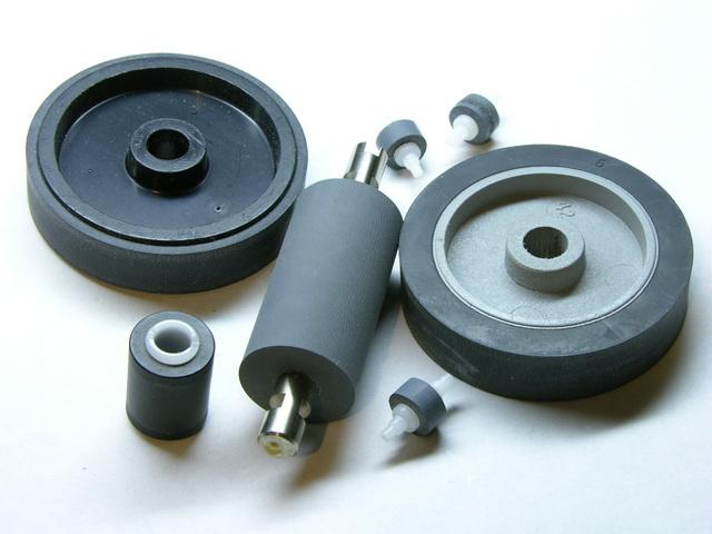 Rubber pinch wheels