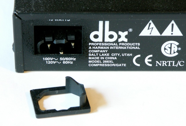 Broken C-14 power jack on DBX 266XL compressor