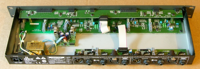 Inside of a DBX 266XL compressor