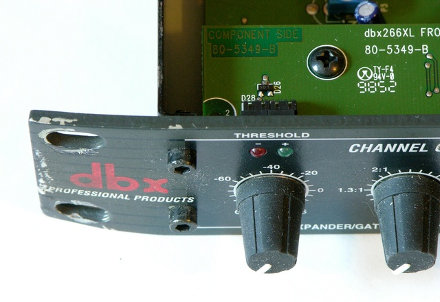Bent rack ear on DBX 266XL compressor