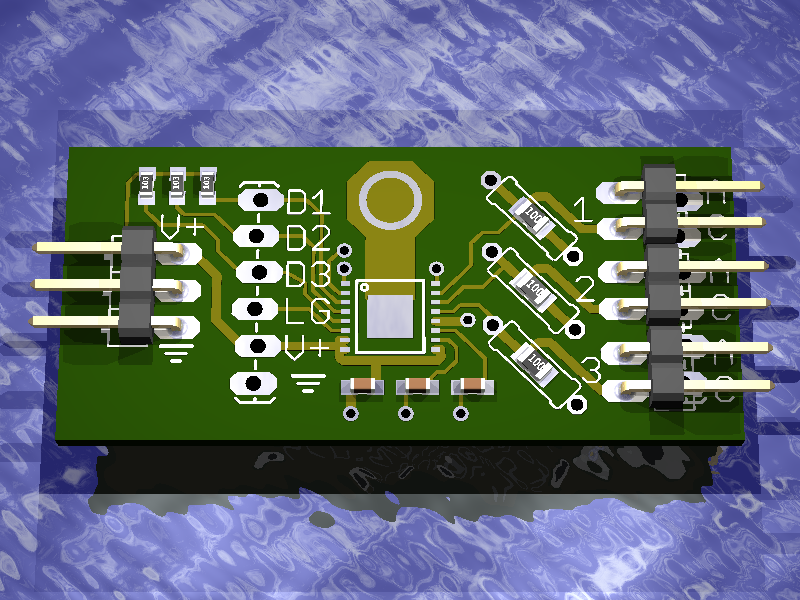 Rendering of LED driver PC board