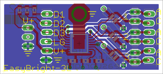 EAGLE PCB layout with header type switched, tDocu on