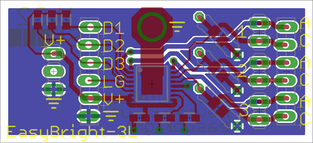 EAGLE PCB layout with tDocu off and supplemental silk drawn in tPlace layer