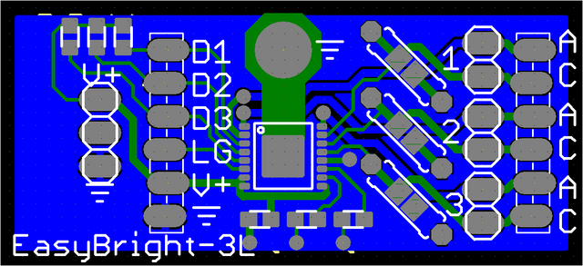 Viewplot Gerber view of revised LED driver prototype