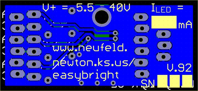 Viewplot Gerber view of final LED driver design, back