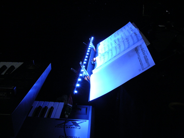 LED wand music stand light