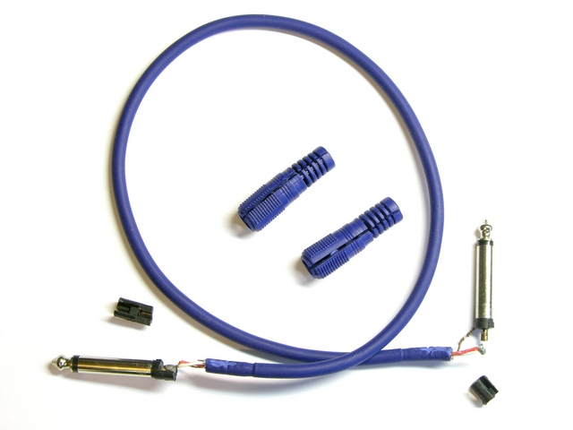 Audio patch cord, disassembled