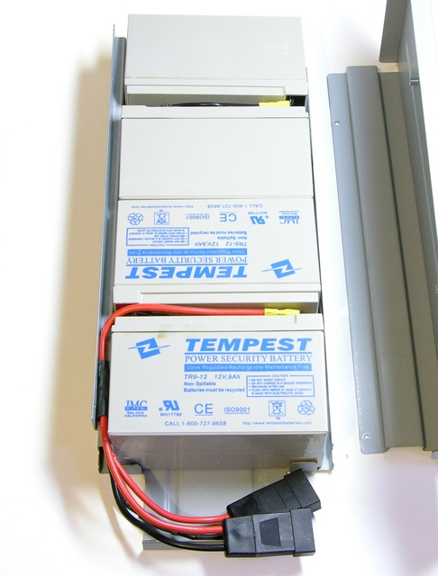 Liebert GXT2-2000RT120 UPS batteries in carrier