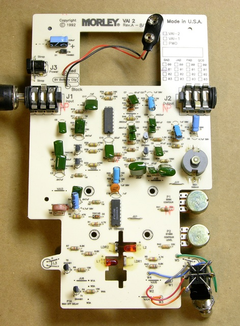 Bad Horsie 2 wah pedal circuit board